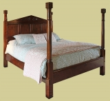 Oak Tudor Style Pencil Bed King