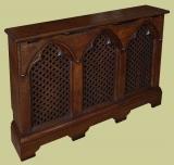 3-Panel Gothic Oak Radiator Cover