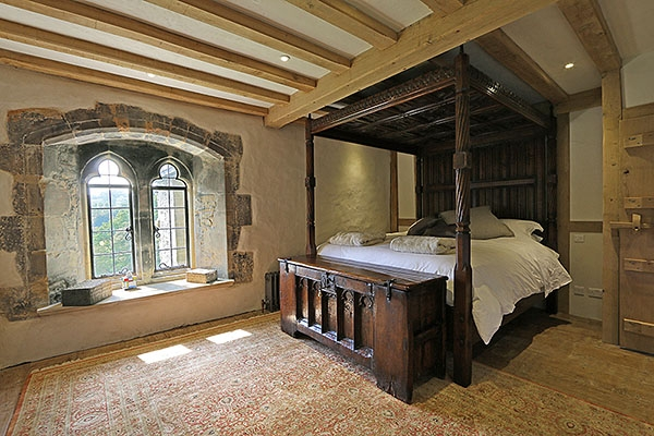 15th and 16th century style oak furniture in manor house