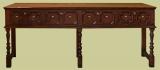 4 Drawer Jacobean Style Dresser Base
