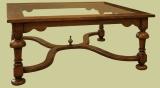Lge.Sq. Glass Top Coffee Table