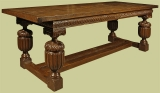 16th century Elizabethan style carved oak refectory table