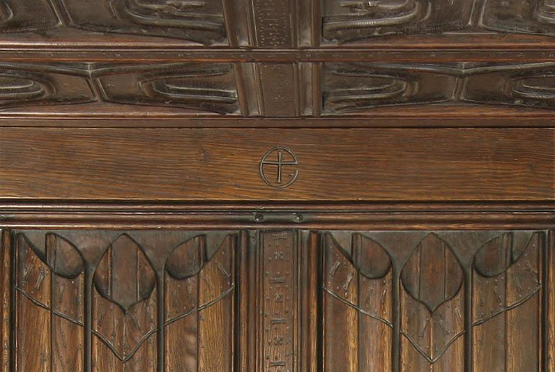 Personalised carved headboard symbol