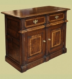 Montgomeryshire period style oak dresser base TV cabinet