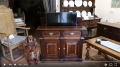 Montgomeryshire oak dresser base, with inbuilt rise and fall TV mechanism.