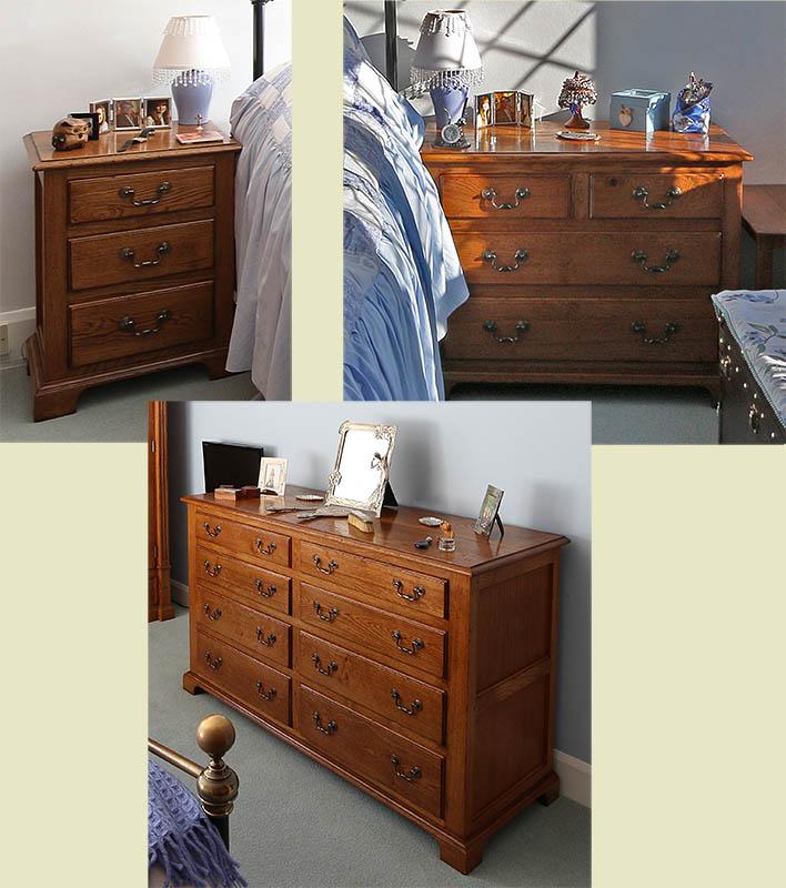 New period style oak bedroom furniture designs