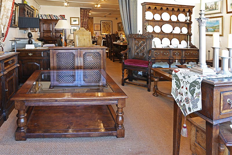Early Oak Reproductions showroom of oak furniture and period accessories