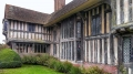 Great Dixter front elevations showing the great hall and porch extension.