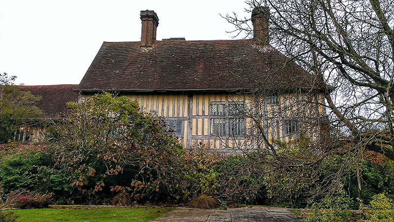 The early 16th century timber framed extension to Great Dixter