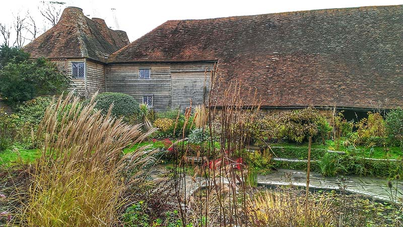 The Great Barn and Oast House of Great Dixter
