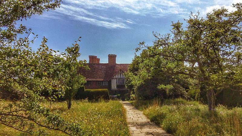 The approach to Great Dixter