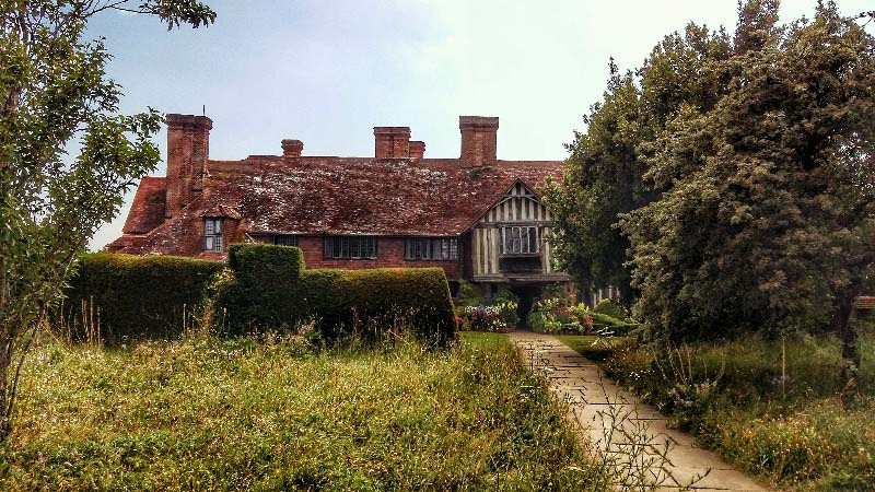 The Lutyens designed early 20th century extension to Great Dixter