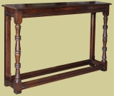 Period style oak console table