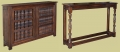 17th century style oak radiator cover and complimentary console table.