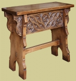 C16th Style Carved Oak Boarded Stool