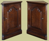 Mid Height Period Style Corner Cupboard