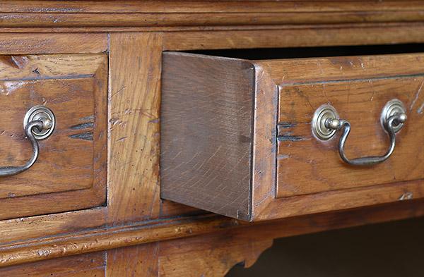 Oak dresser base period style hand cut drawer dovetails