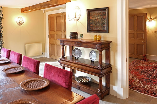 Court cup-board & oak dining furniture in country house