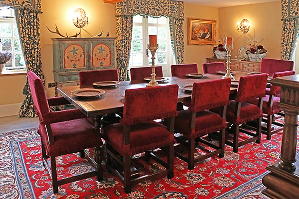 Warwickshire period country home oak dining room furniture
