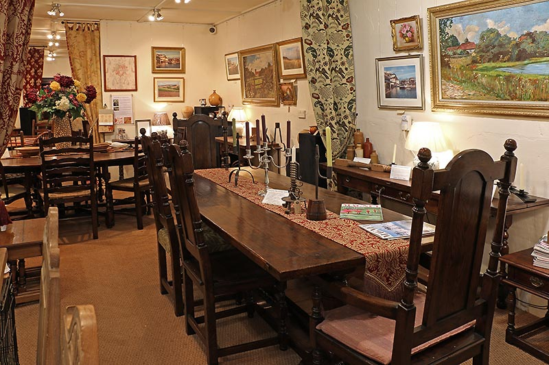 Early Oak Reproductions Sussex showroom