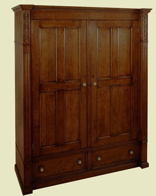 8 panel wardrobe 2 doors 2 drawers