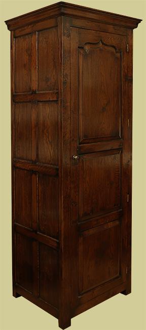 Period style single door oak wardrobe