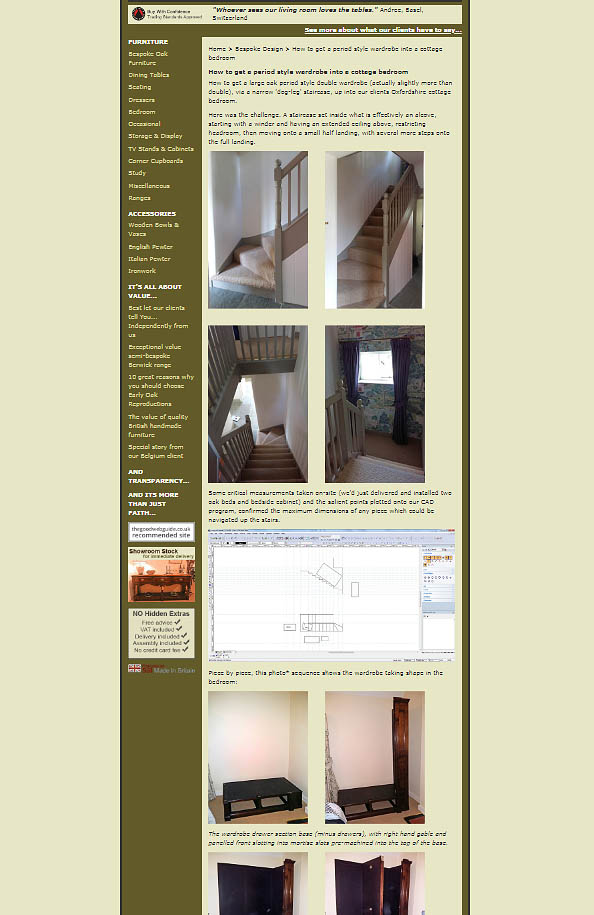 Screenshot of wardrobe blog