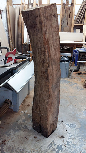 Old oak curved beam 2