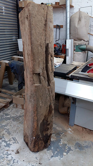Old oak curved beam 3