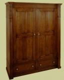 Oak Double Wardrobe 2 Drawer 2 Door